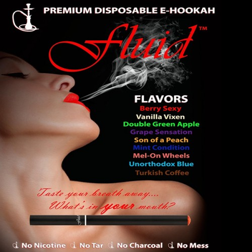 Pack of 9 x 500 Puff Fluid eHookahs (Mixed Flavours)