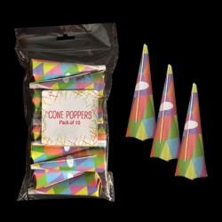 Pack of 20 Party Poppers - Halloween